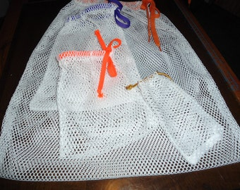Set of 4 Mesh Bags. one of each size