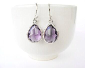 Tanzanite Earrings Purple Teardrop Earrings Eggplant Earrings Silver Purple Earrings Purple Bridesmaid Eggplant bridesmaid Aubergine earring