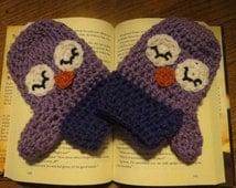Sleepy Owl Mittens