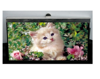 Cute Kitten Wallet Kitty Wallet Cat Wallet Pet Wallet Personalized Pet Wallet