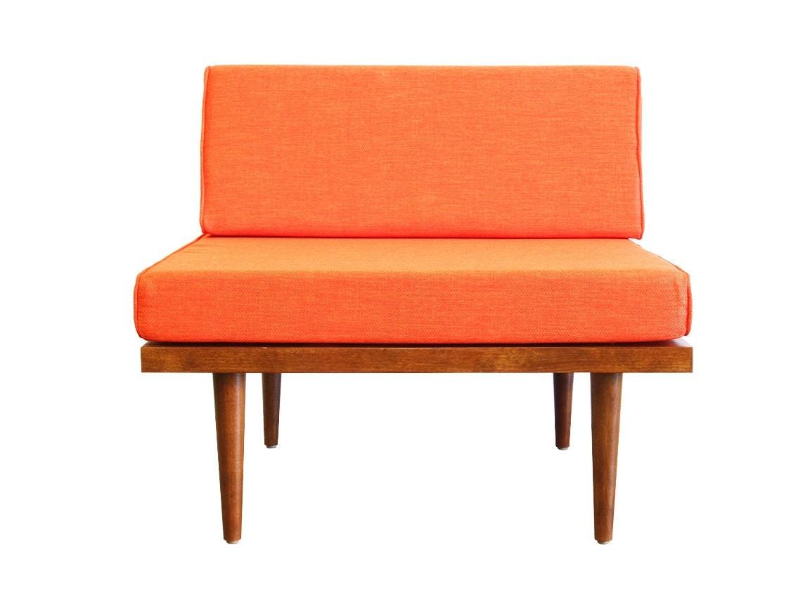 Mid century modern slipper chair classic chair for Classic mid century chairs