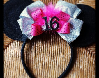 Sweet Sixteen Custom Made Minnie Ears