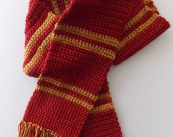 Red & Gold Scarf - Made to Order