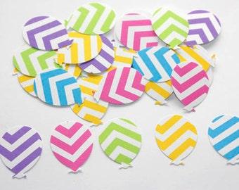 100 Chevron Party Balloon Confetti, Chevron Stripe Balloon Confetti, Birthday, Party Decor, Pink Chevron, Blue Chevron, Embellishment