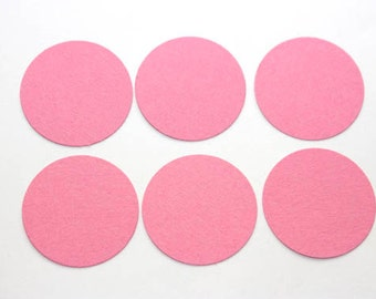 100 Pink Die Cut Circles, 1 inch Confetti, Scalloped Circles, Paper Rounds, Wedding, Birthday, Baby Shower, Bridal Shower, Tags,