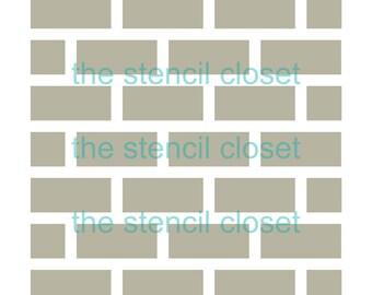 6x6 Brick stencil
