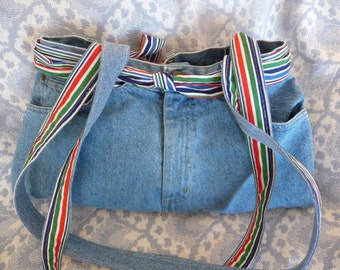 Upcycled Pieced Denim 5 Pocket Jean Purse