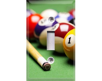 Billiards Light Switch Cover