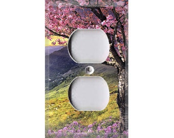 Scenery Collection - Cherry Blossom Tree Outlet Cover