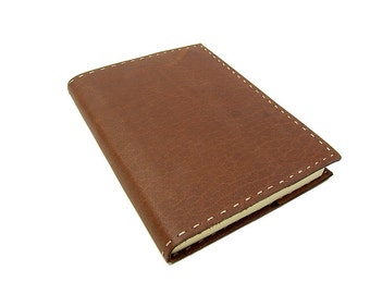 Leatherbook Blog Choco XL - Refillable diary, journal, notebook or travel diary
