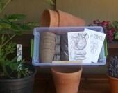Small Gardening Kit, Herb Garden Kit for Herbs, seed kit diy garden kit beginner gardener indoor herb garden kit grow your own organic seeds