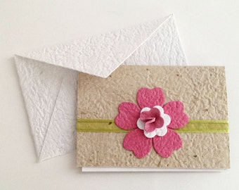 Note cards made from Handmade Paper (Set of 3 w/envelopes)
