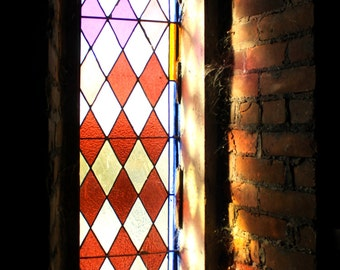 Window at St. Hedwig's - Stained Glass - Church - Toledo, OH - Fine Art - 10x20