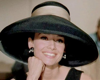 "Kentucky Derby, Royal  Ascot, Couture black hat for the races, tea parties, wedding  "" Audrey"" hat"