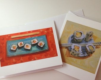 Sushi Note Card Set, 8 cards and envelopes