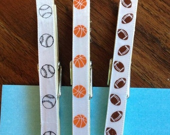 Decorative Sport Clothespins with or without magnets