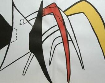 Alexander Calder Derriere le Miroir #141 Original unframed Lithograph 1963