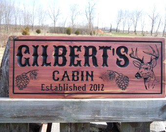 Camping Signs Wooden Signs Custom Outdoor Name Sign Personalized Wooden Signs Custom Wood Signs Custom Wooden House Signs Red Cedar CD312
