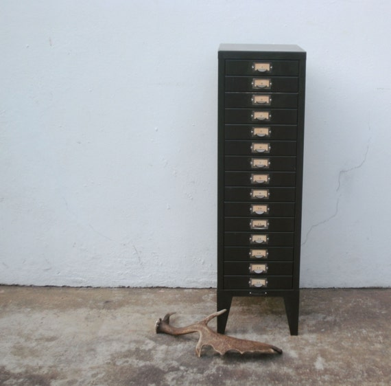 Luxury Details About 1 18quotx28quot Vintage 5Drawer File Metal Cabinet