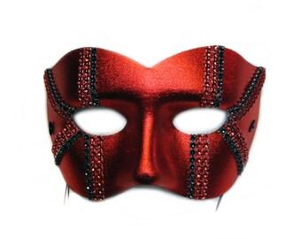 Daredevil Mens Red Masquerade Ball Mask - A-2101-E