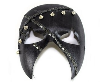 Dred Hand-Painted Men's Masquerade Mask - A-2227-E