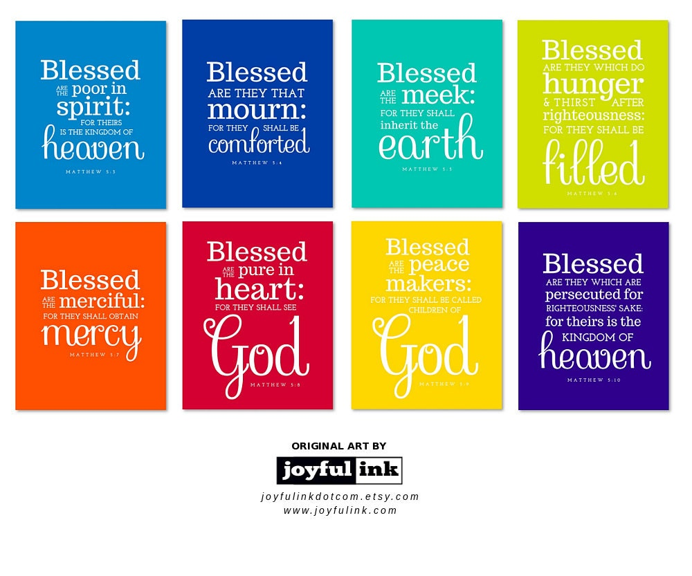 List+Of+The+8+Beatitudes Request a custom order and have something ...