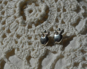 SALE - Vintage Avon Sterling Silver Apple Earrings