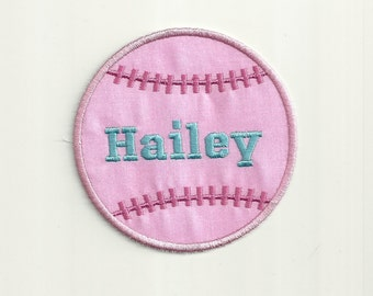 Your Name or Initial on a Girly Baseball Patch! Custom Made!