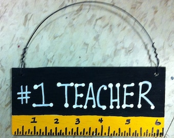 Teacher Gifts # 1 Teacher Black with Ruler