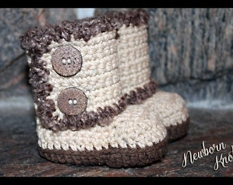 Crochet Pattern for Boys or GirlsWrap Around Booties. Pattern number 038. Instant Download