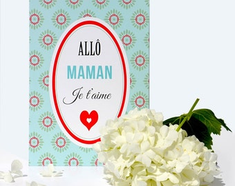 Mother's day postcard: Allo mum I love you - DC