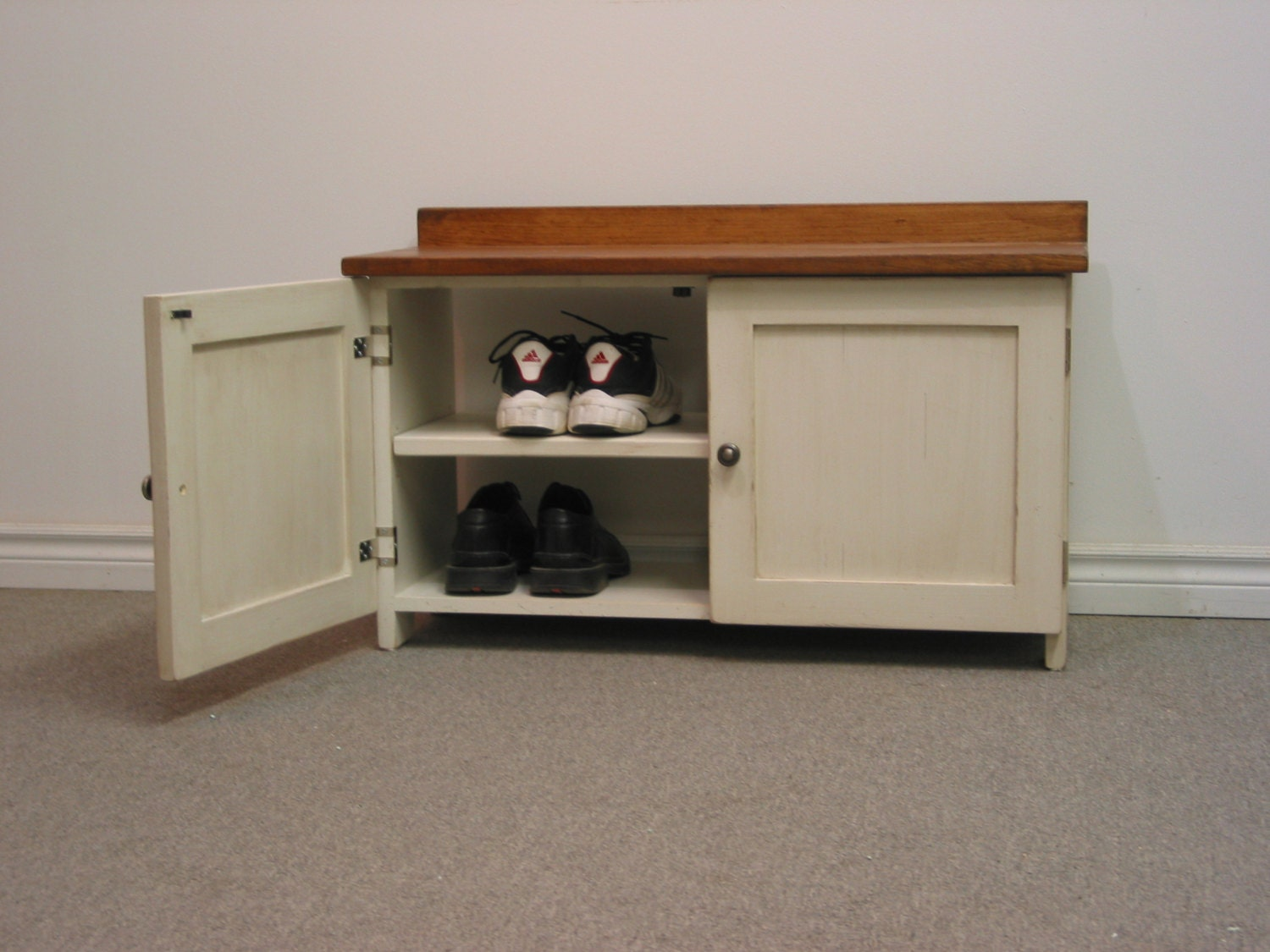 Two Door Shoe Organizer 36 Shoe Bench Entry Way