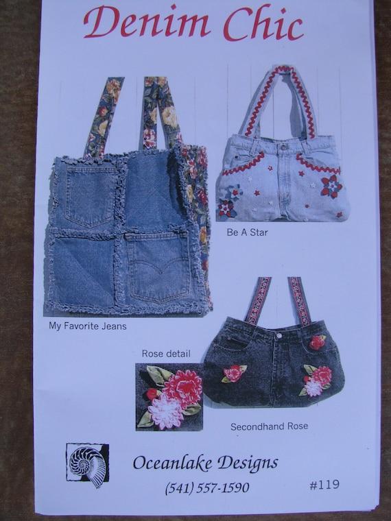 Denim Chic Purse Handbag Rag Quilt Jeans Bag Pattern