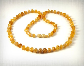 Natural Baltic Amber Necklace Yellow Baroque 58 cm 23 inches