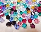 SALE: 24pc. mix Birthstone Bead Mix, Genuine Swarovski crystal, High Quality Crystals, 6mm bicone, finding, jewelry supplies supplier