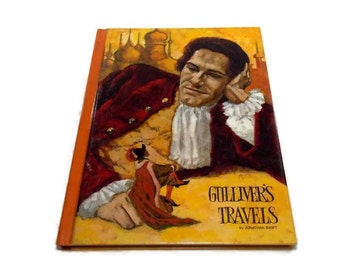 Vintage Children's Books Kid's Room Decor Illustrated Classic Books Gullivers Travels Captain Courageous Tales of Edgar Allan Poe