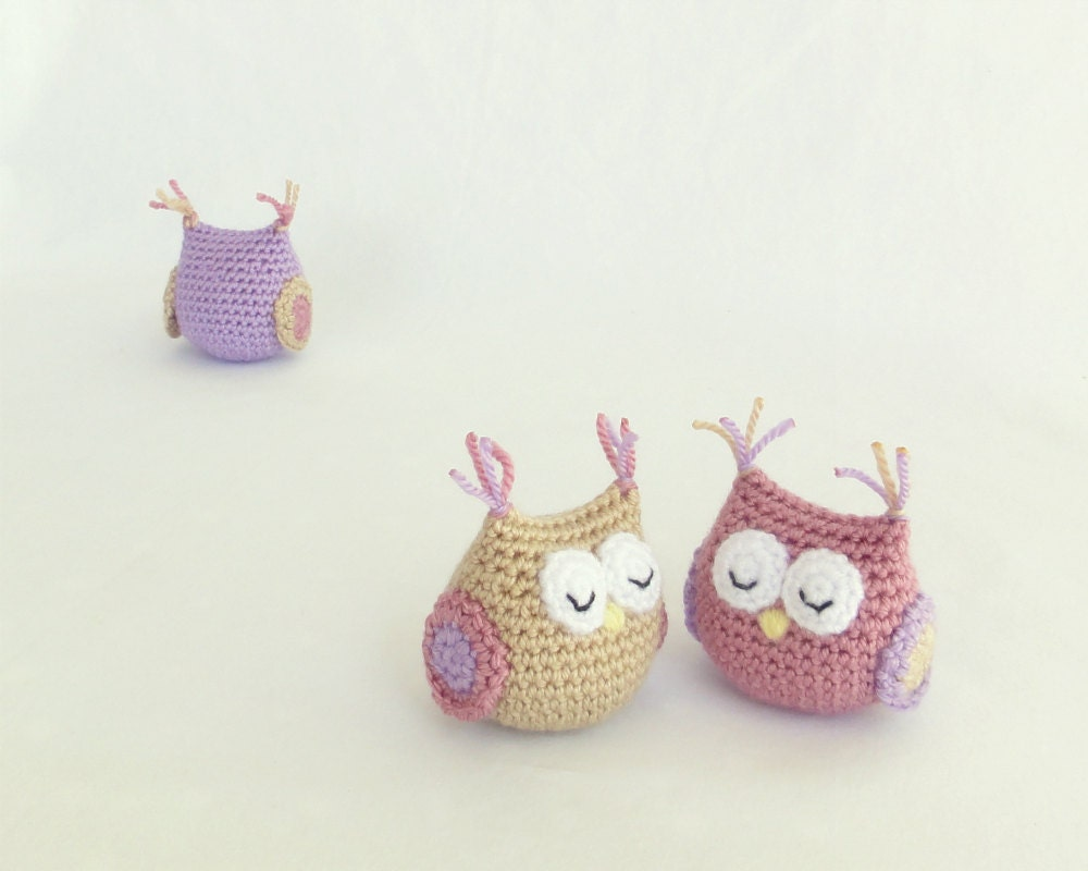 Amigurumi owl handmade crochet soft toy unique gift for a - Decoration au crochet ...