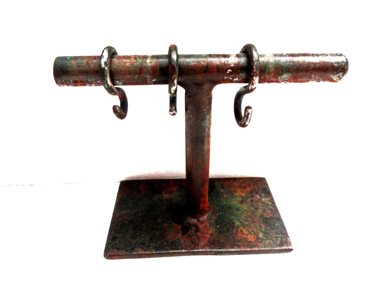 Exhibition Stand Hooks : Metal jewelry display stand with hooks for bracelets earrings