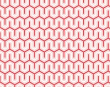 "SALE - Red Zig Zag Modern Fabric ""Simply Sweet"" by Lori Whitlock - Riley Blake.  100% cotton, c3464 - By the 1/2 Yard"