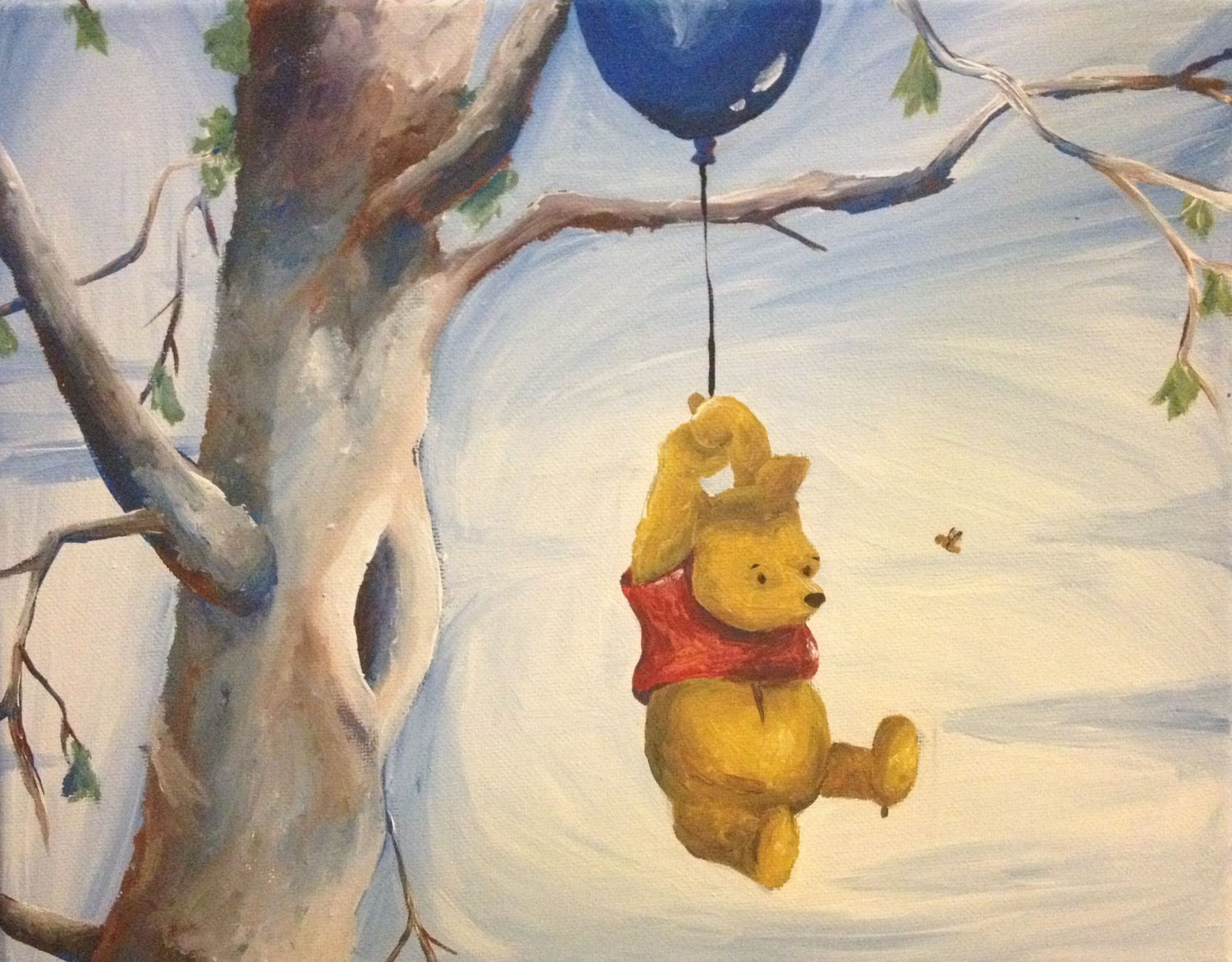 Winnie The Pooh Acrylic Painting