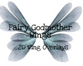 Fairy Godmother Wings PNG Overlays