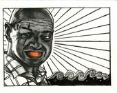 "LOST Locke ""Orange Glo"" lite art print"