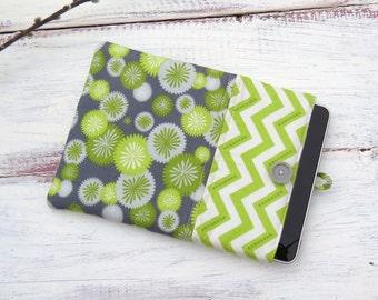 iPad Sleeve iPad Case iPad 2, 3 & 4 Case or Sleeve Tablet Case Sleeve Grey and Green Floral