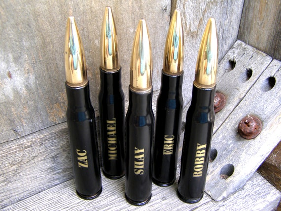 5 engraved black groomsmen gifts 50 cal personalized bottle openers groom gift father of the. Black Bedroom Furniture Sets. Home Design Ideas