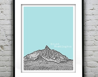 Mount Washington Skyline Poster Art Print  Oregon OR