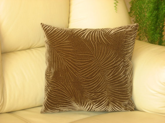 mustard brown velvet decorative luxury handmade
