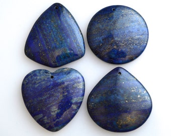 Lapis Pendant Beads  Deep Blue  Color With Gold Fleck Muti Shapes