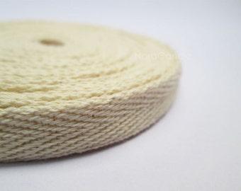 Twill Cotton Ribbon, Cotton Tape 10 Yards