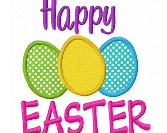 Happy Easter Applique Machine Embroidery Design NO:0134