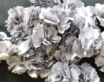 20 silver gray silk flower heads for crafts weddings for Flower heads for crafts